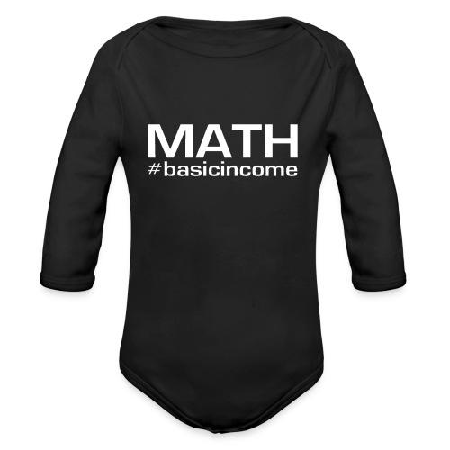 math white - Baby bio-rompertje met lange mouwen