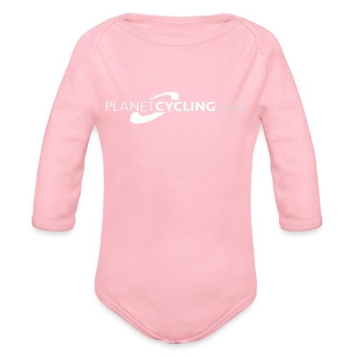 Planet Cycling Web Logo - Organic Longsleeve Baby Bodysuit