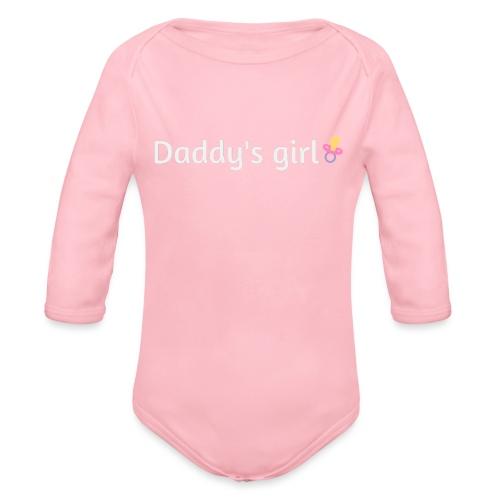 Daddy's girl - Organic Longsleeve Baby Bodysuit