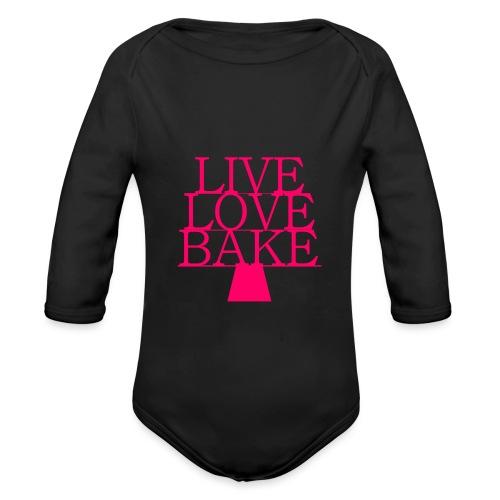 LiveLoveBake ekstra stor - Langærmet babybody, økologisk bomuld