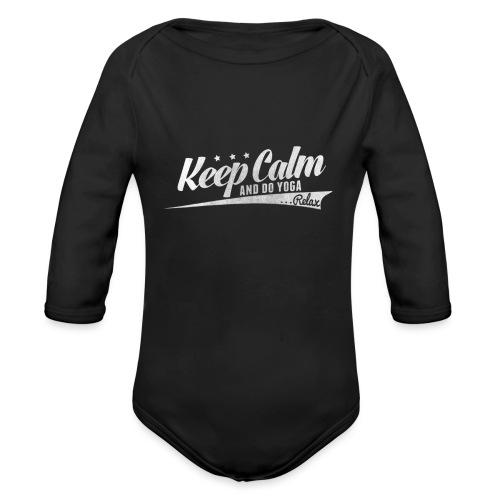 Yoga Relax Keep Calm - Baby Bio-Langarm-Body
