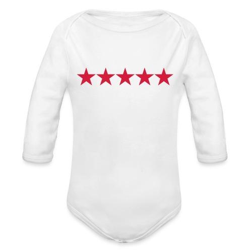 Rating stars - Vauvan pitkähihainen luomu-body