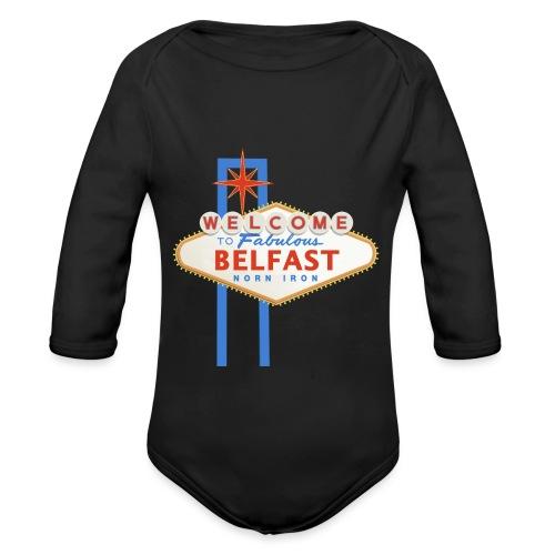 Belfast - Vegas sign - Organic Longsleeve Baby Bodysuit