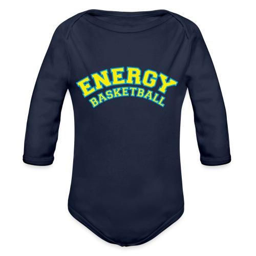 eco logo energy basketball giallo - Body ecologico per neonato a manica lunga