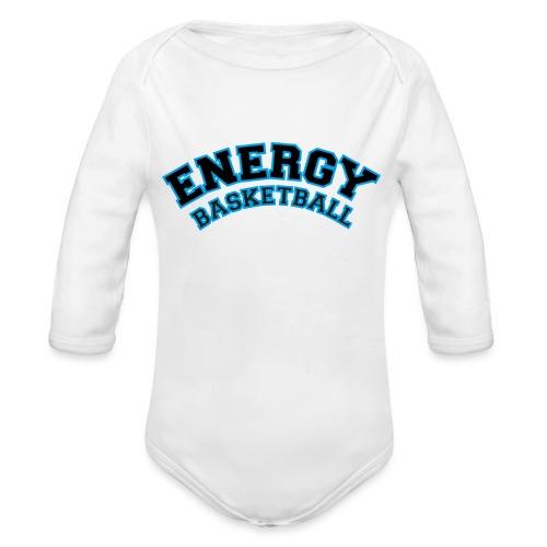 baby energy basketball logo nero - Body ecologico per neonato a manica lunga