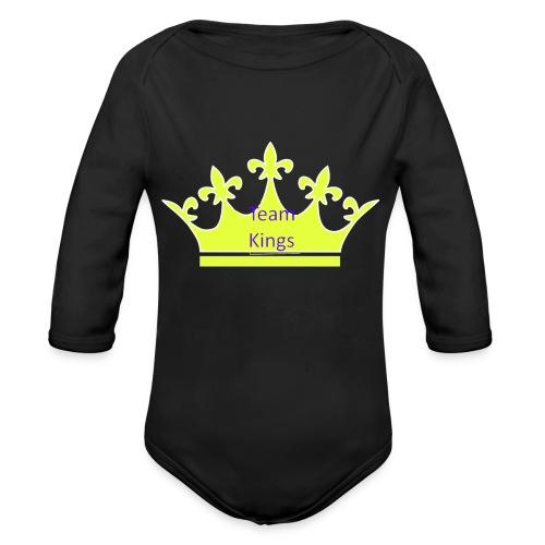 Team King Crown - Organic Longsleeve Baby Bodysuit