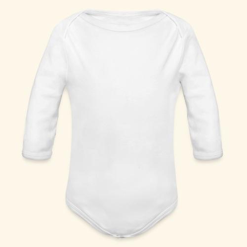 Wild West Game Text Design - Organic Longsleeve Baby Bodysuit
