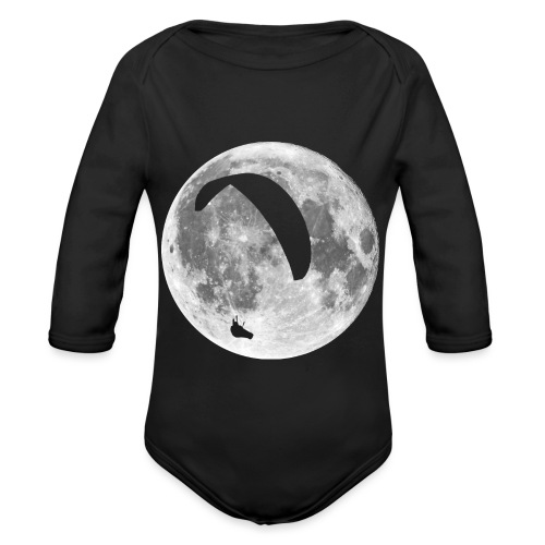 Paragleiter im Mond - Baby Bio-Langarm-Body