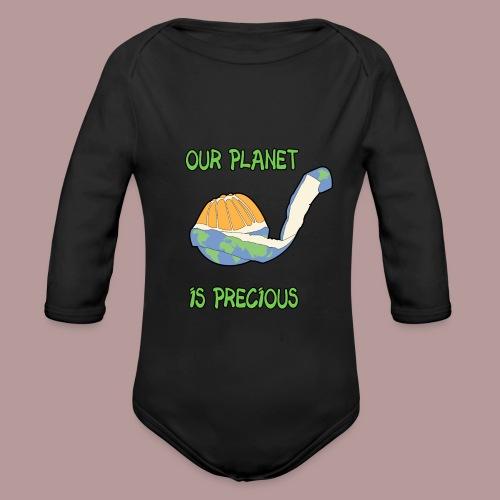 Our planet is precious - Body Bébé bio manches longues