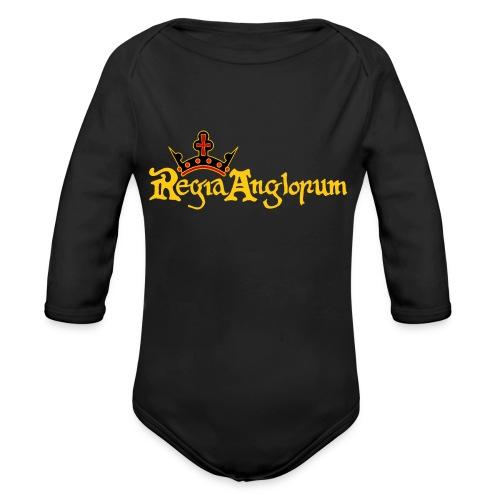 Regia Banner Yellow - Organic Longsleeve Baby Bodysuit