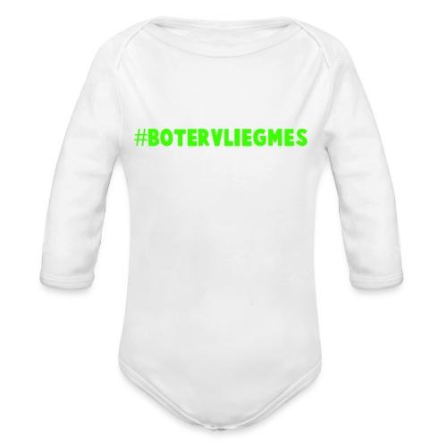 #botervliegmes T-shirt (mannen) - Baby bio-rompertje met lange mouwen
