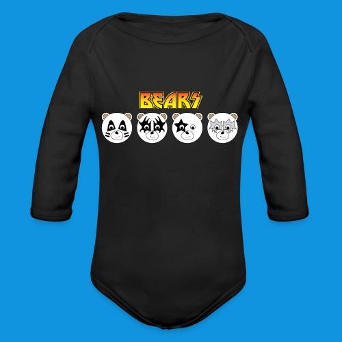 Kiss Bears.png - Organic Longsleeve Baby Bodysuit