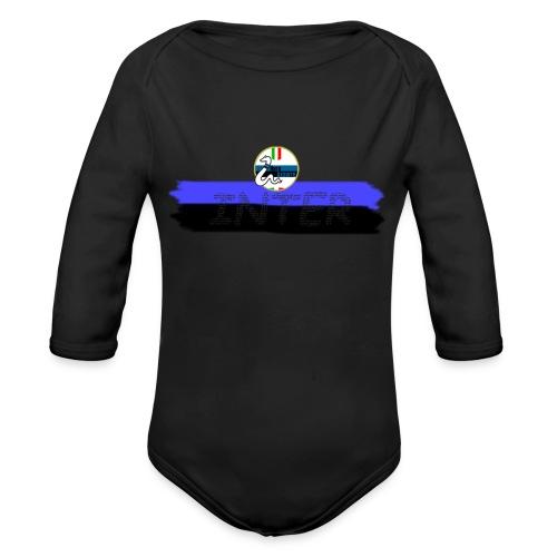 Linea Inter NeroAzzurro - Body ecologico per neonato a manica lunga