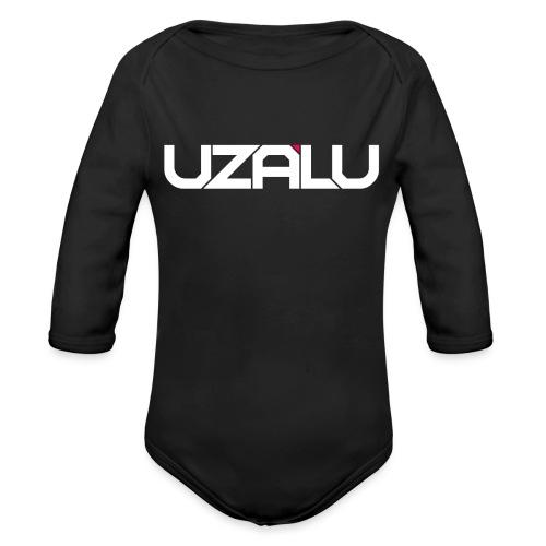 uzalu Text Logo - Organic Longsleeve Baby Bodysuit