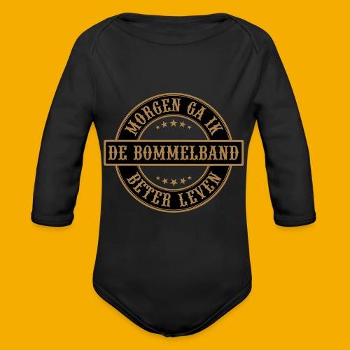 bb logo rond shirt - Baby bio-rompertje met lange mouwen