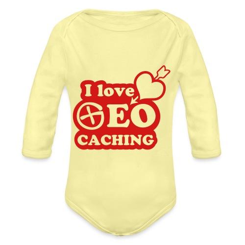 I love Geocaching - 1color - 2011 - Baby Bio-Langarm-Body