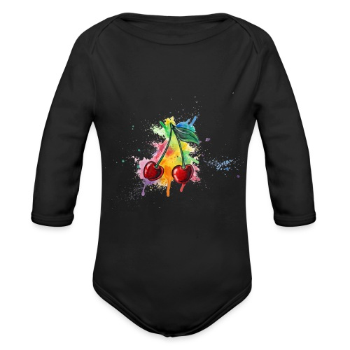 Cherries Watercolors Nadia Luongo - Body ecologico per neonato a manica lunga