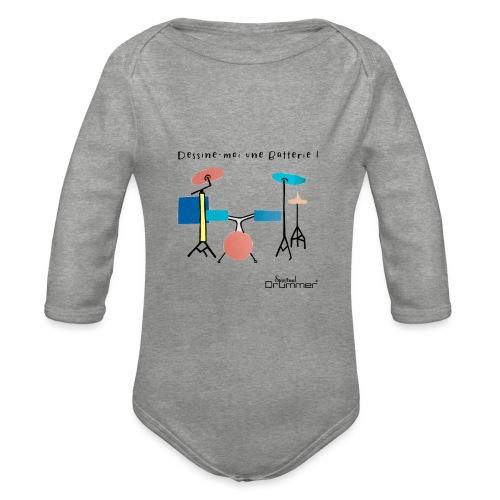 Azia Drum - Organic Longsleeve Baby Bodysuit