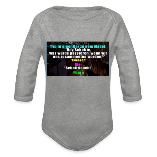 SchnitLauch - Baby Bio-Langarm-Body