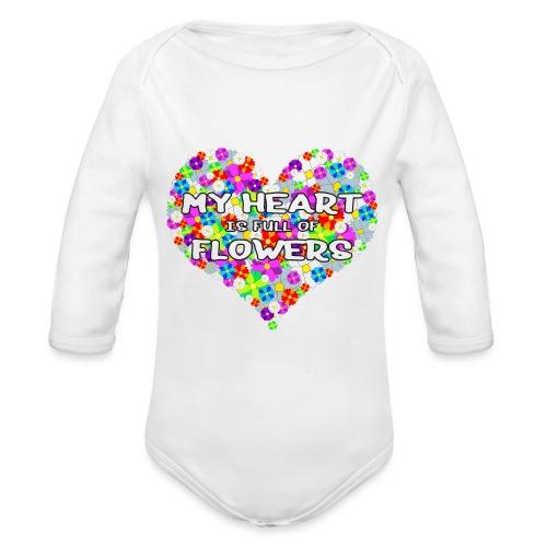 My Heart is full of Flowers - Baby Bio-Langarm-Body