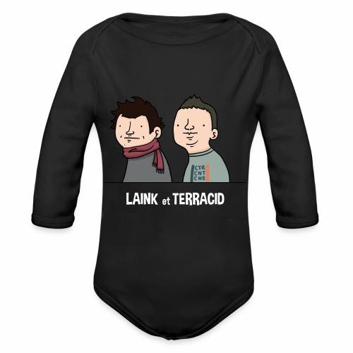 Laink et Terracid old - Body Bébé bio manches longues