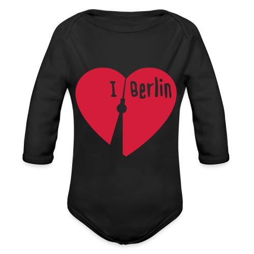 I love Berlin (1-farbig) - Baby Bio-Langarm-Body