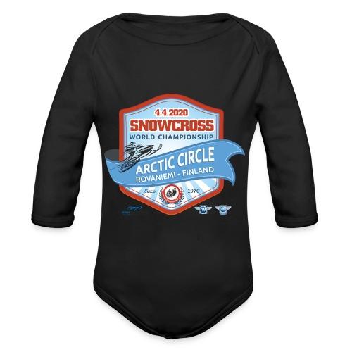 MM Snowcross 2020 virallinen fanituote - Vauvan pitkähihainen luomu-body
