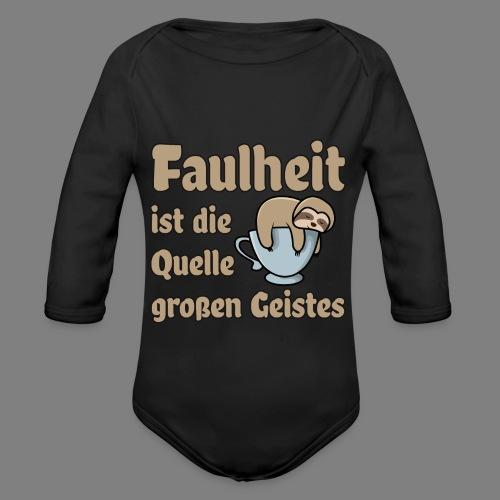Faulheit - Baby Bio-Langarm-Body