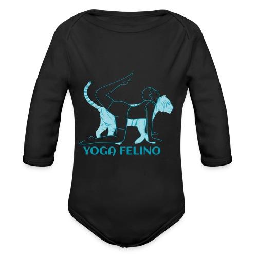 t shirt design YOGA FELINO - Body ecologico per neonato a manica lunga