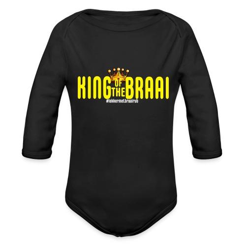 KING OF THE BRAAI - Baby bio-rompertje met lange mouwen