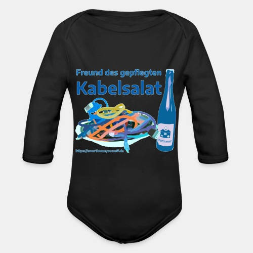 Freund des gepflegten Kabelsalat - Comic - Baby Bio-Langarm-Body