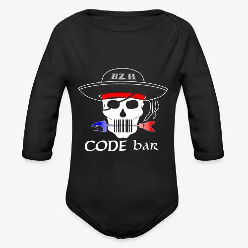 Code Bar white - Body Bébé bio manches longues