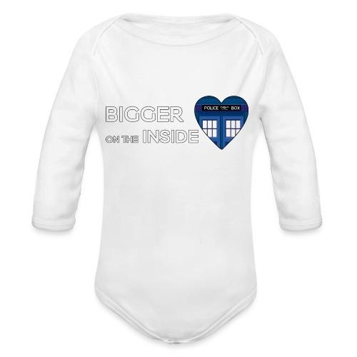 Tardis Heart - Organic Longsleeve Baby Bodysuit
