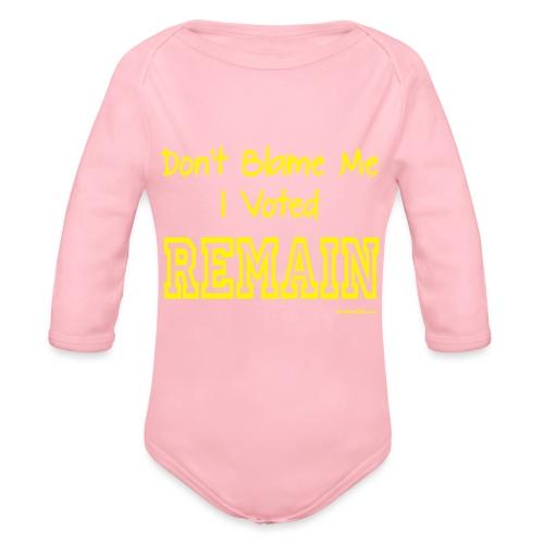 Dont Blame Me - Organic Longsleeve Baby Bodysuit