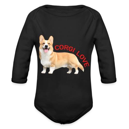 CorgiLove - Organic Longsleeve Baby Bodysuit