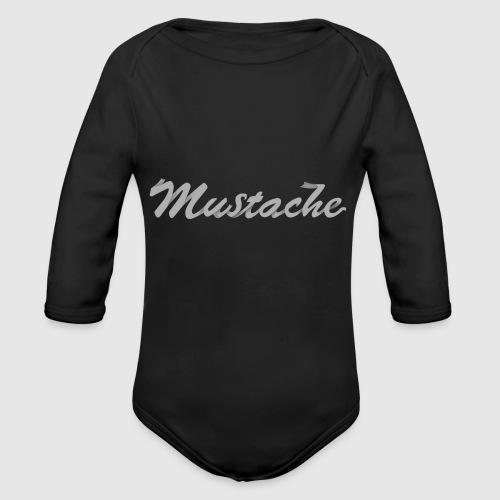 White Lettering - Organic Longsleeve Baby Bodysuit