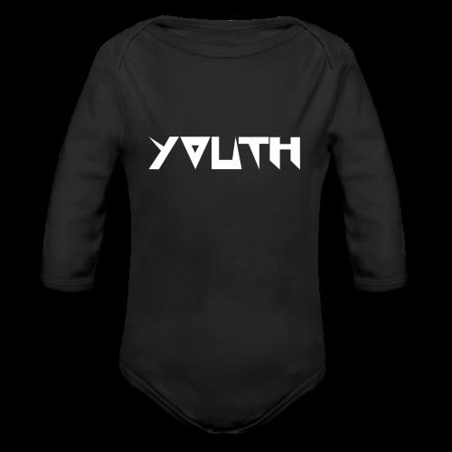 youth black - Ekologiczne body niemowlęce z długim rękawem