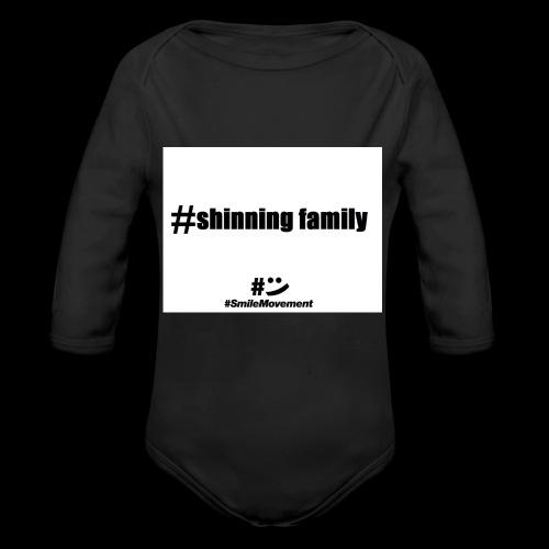 shinning family - Body Bébé bio manches longues