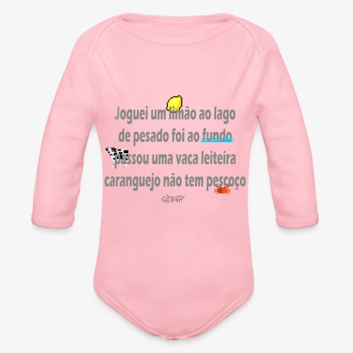 Versinho de infancia - Organic Longsleeve Baby Bodysuit