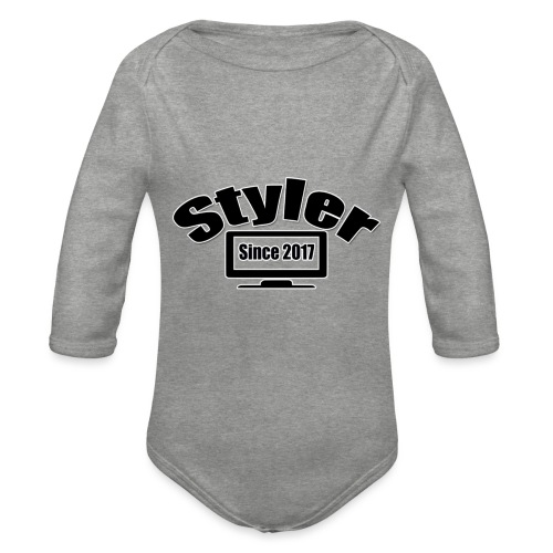 Styler Designer Kleding - Baby bio-rompertje met lange mouwen