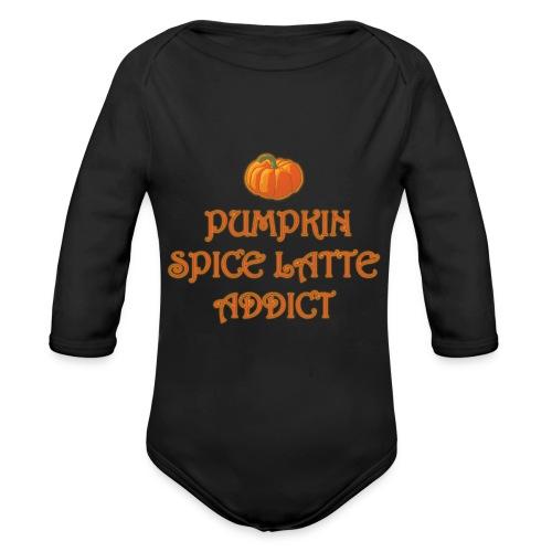 PumpkinSpiceAddict - Body ecologico per neonato a manica lunga
