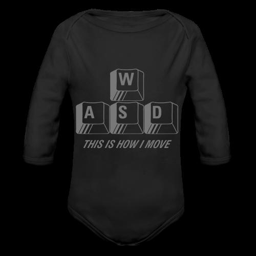 T-shirt Premium, WASD This is how I move - Ekologisk långärmad babybody