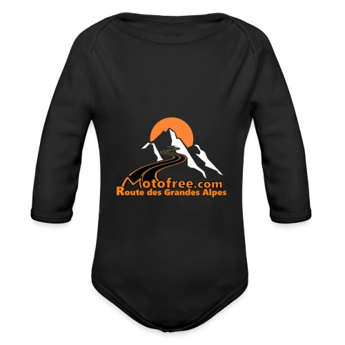 logo motofree orange - Body Bébé bio manches longues
