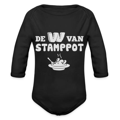 De W van Stamppot - Baby bio-rompertje met lange mouwen