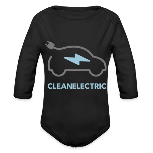 CLEANELECTRIC Logo - Baby Bio-Langarm-Body
