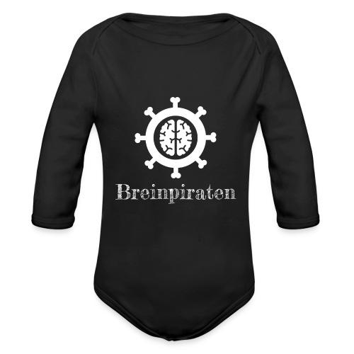 Breinpiraten logo - Baby bio-rompertje met lange mouwen