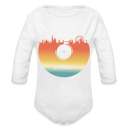 London Skyline Vinyl Schallplatte London Souvenir - Baby Bio-Langarm-Body