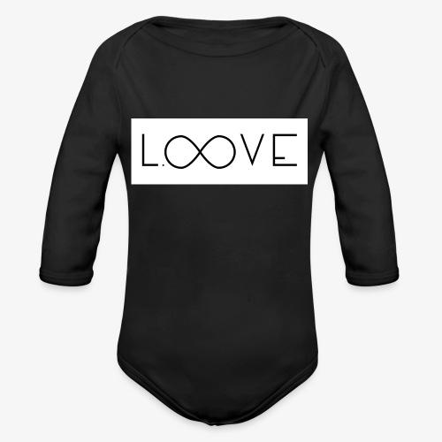 LOOVE Box Logo (SS18) - Body ecologico per neonato a manica lunga