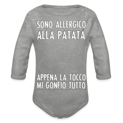 Patata - Body ecologico per neonato a manica lunga
