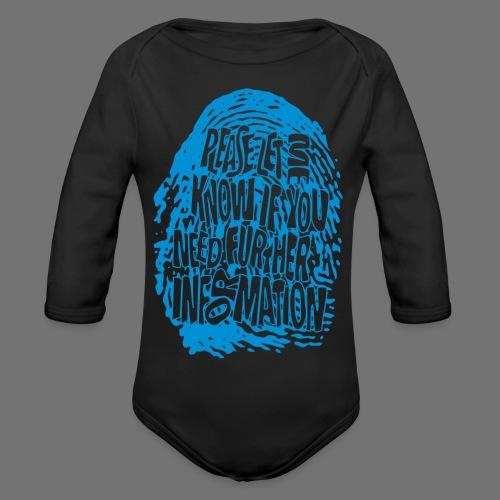 Fingerprint DNA (blue) - Organic Longsleeve Baby Bodysuit